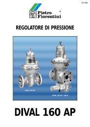 DIVAL 160 AP REGOLATORE DI PRESSIONE - Pietro Fiorentini