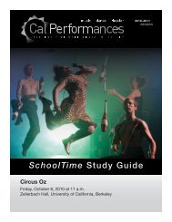 Circus Oz - Cal Performances - University of California, Berkeley