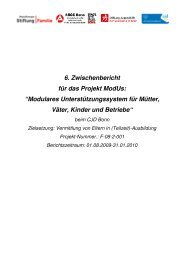 """6. Zwischenbericht für das Projekt ModUs: """"Modulares ... - CJD Bonn"""