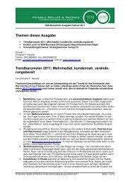 Trendbarometer 2011 - Heinold, Spiller & Partner ...