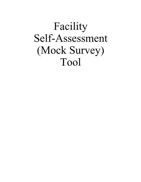 Facility Self Assessment Mock Survey Tool Nursing Home Help