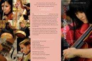Faltblatt Weltweite Klänge 2013 - Jesuitenmission