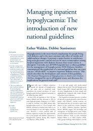 Managing inpatient hypoglycaemia - Journal of Diabetes Nursing