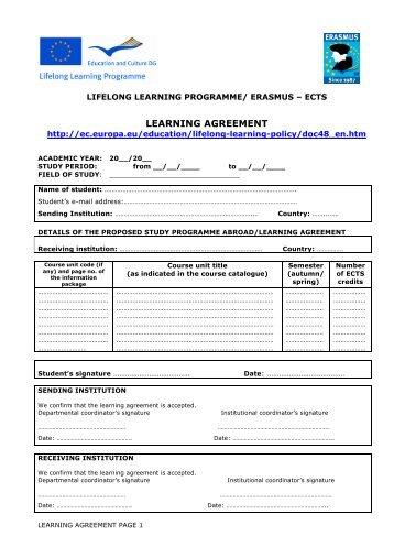 Promos Learning Agreement Fachhochschule Dsseldorf