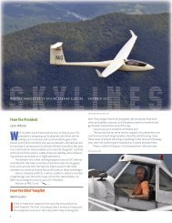 From the President From the Chief Towpilot - Skyline Soaring Club