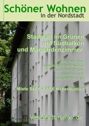 Stadtnah im Grünen mit Südbalkon und Mansardenzimmer Stadtnah ...