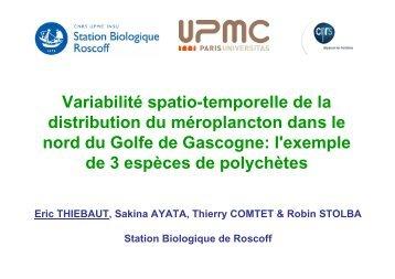 Variabilité spatio-temporelle de la distribution du méroplancton dans ...