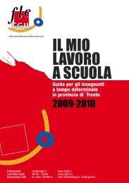 IL MIO LAVORO A SCUOLA (guida per ... - CGIL del Trentino