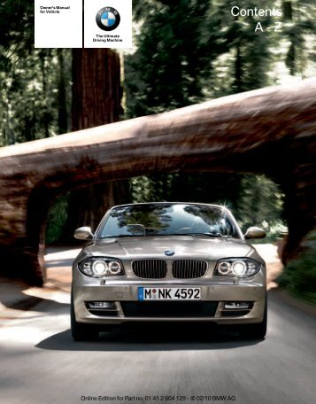 2011 1 Series Owner's Manual with iDrive - Irvine BMW