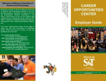 Employer Guide CAREER OPPORTUNITIES CENTER