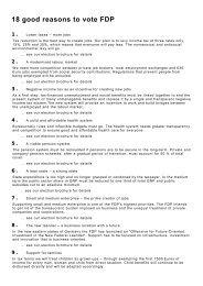 18 good reasons to vote FDP
