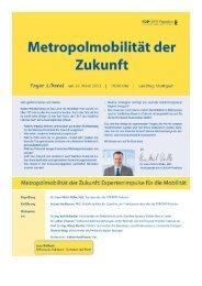 Einladung Metropolmobilität - FDP/DVP-Fraktion