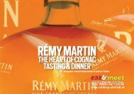 rémy martin the heart of cognac tasting & dinner - felleis & knittelfelder