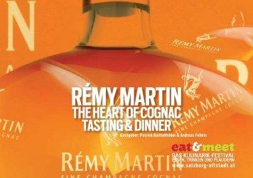 rémy martin the heart of cognac tasting & dinner - felleis & knittelfelder