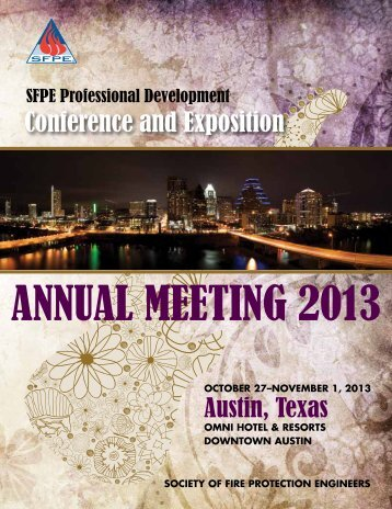 Conference Brochure (PDF) - Society of Fire Protection Engineers