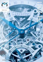 Rapport annuel FH 2011 - Federation of the Swiss Watch Industry FH
