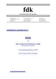 SPERRFRIST: REDEBEGINN!!! von DR. GUIDO WESTERWELLE ...