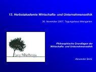 2. Ebenen-Konzeption der Wirtschafts- und Unternehmensethik ...