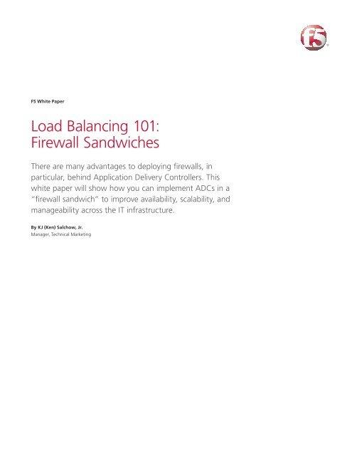 Load Balancing 101: Firewall Sandwiches   F5 White     - F5