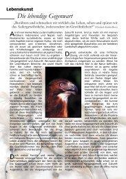 Die lebendige Gegenwart - AURA – Magazin