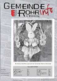 GdeInfo 04/2009 - Rohr im Kremstal