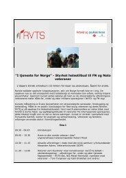 """I tjeneste for Norge"""" - Styrket helsetilbud til FN og Natoveteraner"""