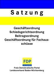 Landessatzung 2008 - FDP Baden-Württemberg