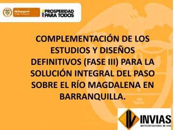 Presentación Estudios y Diseños del Nuevo Puente Pumarejo ...