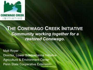 The Conewago Creek Initiative - Chesapeake Bay Commission