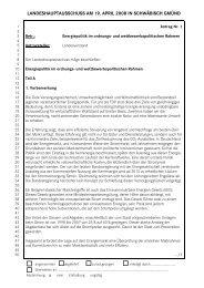 LANDESHAUPTAUSSCHUSS AM 19. APRIL 2008 IN SCHWÄBISCH