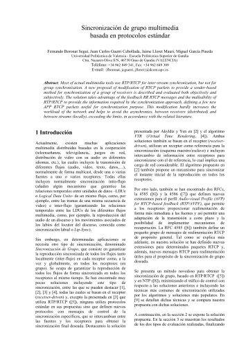 Sincronización de grupo multimedia basada en protocolos ... - UPV