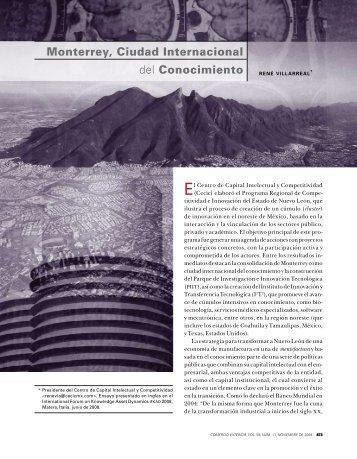 Monterrey, Ciudad Internacional del Conocimiento - revista de ...