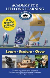 AcAdemy for LifeLoNG LeArNiNG - Chesapeake Bay Maritime ...