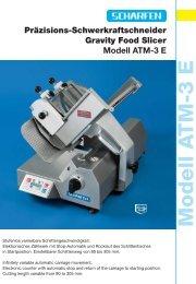 Modell A TM-3 E Präzisions ... - Hermann Scharfen GmbH & Co