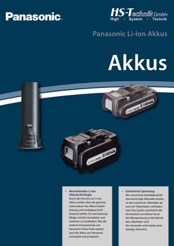 Panasonic Li-Ion Akkus - HS-Technik