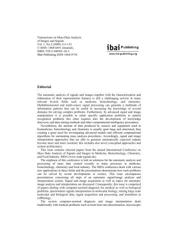 Editorial - ibai Publishing