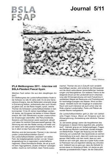 Journal 5/11 - BSLA