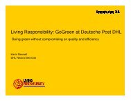 Living Responsibility: GoGreen at Deutsche Post DHL - Solar Panels