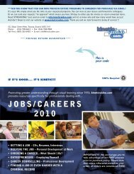 JOBS/CAREERS 2010 - Kinetic Video