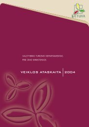 VEIKLOS ATASKAITA 2004