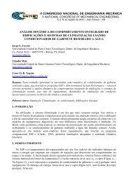 Análise Dinâmica do Comportamento Integrado de ... - PPGEM