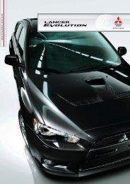 Lancer Evolution Produktprospekt - Mitsubishi