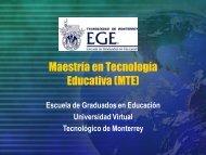 Proyectos de investigación EGE. - Universidad TecVirtual del ...