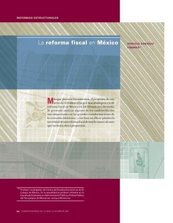la reforma fiscal en México - revista de comercio exterior