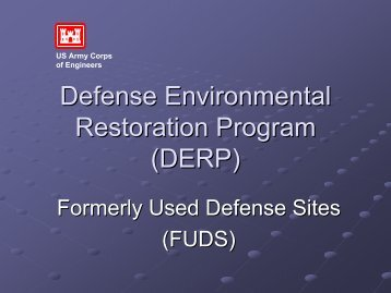 Defense Environmental Restoration Program (DERP) - U.S. National ...