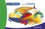 Meal Planning for People with Diabetes - Gouvernement du Québec