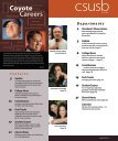 Careers Coyote - CSUSB Magazine - California State University ... - Page 3