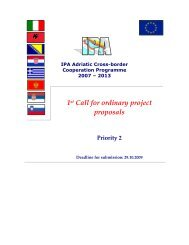 1st Call for ordinary project proposals - IPA Adriatic Cross-Border ...