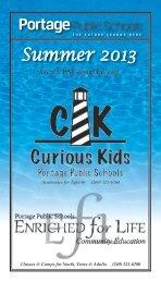 Summer 2013 - Portage Public Schools