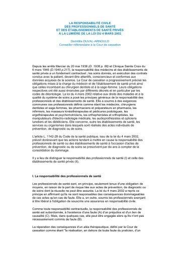 LA RESPONSABILITÉ CIVILE - Le Bloc